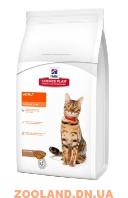 Hills Science Plan Feline Adult Optimal Care Хилс с ягненком