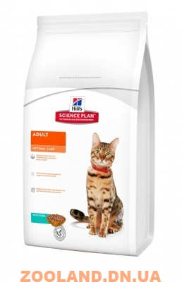 Hills Science Plan Feline Adult Optimal Care Хилс с тунцом